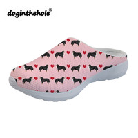 doginthehole Outdoor Sandals Slippers Womens Clogs Love Bernese Dog Printing Beach Shoes for Women 2019 Slip on Sea Shoes Female