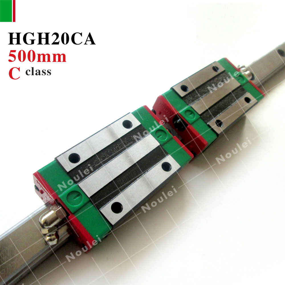 HIWIN HGH20CA linear slider with 500mm guide rail HGR20 of cnc set High efficiency HGH20 fotomate lp 02 200mm movable 2 way macro focusing rail slider black