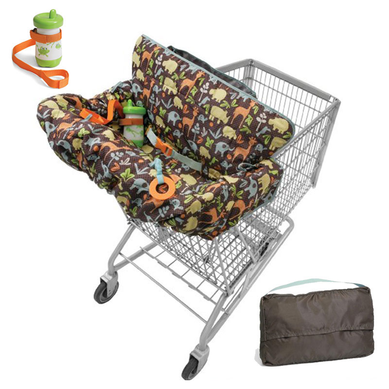 Children Supermarket Shopping Cart Cover Three-point Harness Safety Seat Baby Di