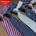 2016 Men Vestido 8cm Men's Dress Business Korean Wedding Tie School Hotel Bank Tooling striped gravata arrow ties for men