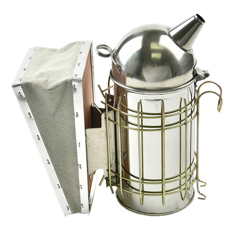 DLKKLB Hive Smoker Stainless Steel Bee Hive Large Beekeeping Equipment With Hanging Hook Apiculture Tools Accessories Supplies