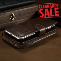 FLOVEME Wallet Case For IPhone 8 7 Case Leather Luxury Multi Function Pouch Long Rope Bag
