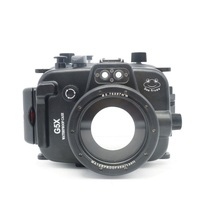 40m / 130FT Underwater Waterproof Camera Housing Case for Canon G5X + 67mm Round Thread Diving Filter