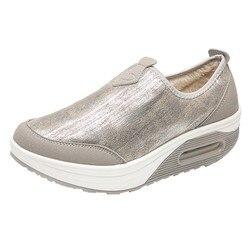 5af930872 Mulheres da moda Sapatos de Plataforma Plana Mulher zapatos mujer das Mulheres  Deslizamento Plataforma Para Senhoras