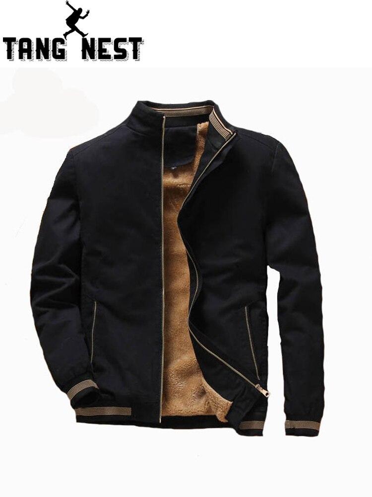 TANGNEST Neue 2019 Männer der Herbst Gewinner Gewinde Manschette Warme Hoodie Jacke Komfortable Herren Mantel Asiatische Größe 4XL MWJ2563