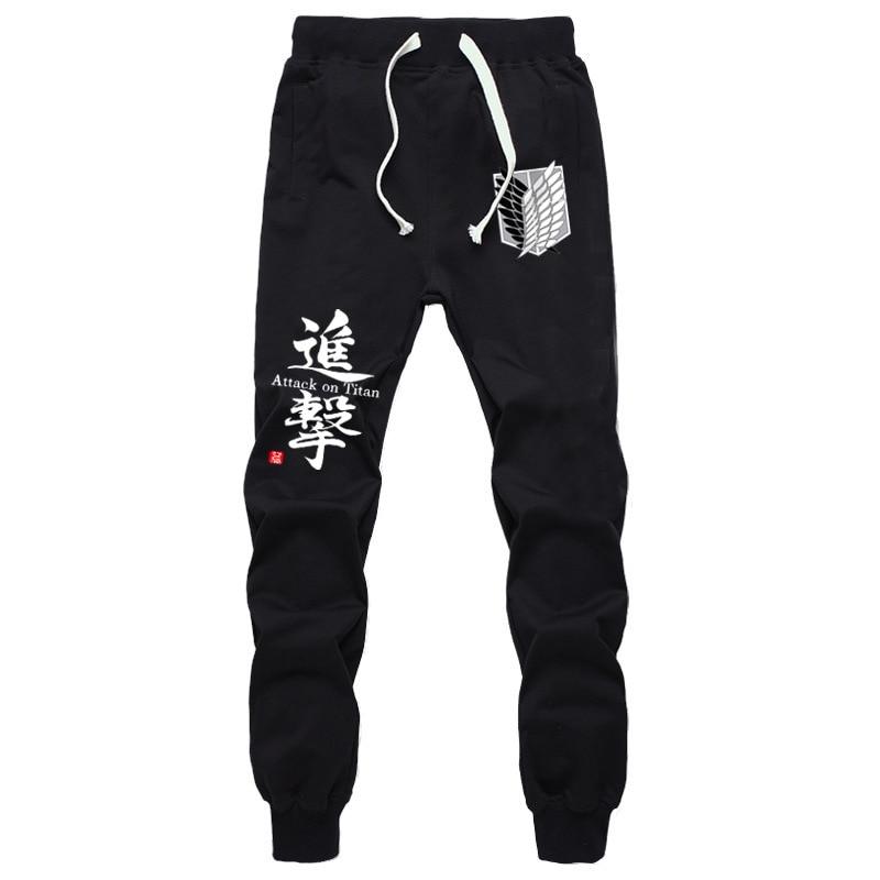New Fashion Anime Attack on Titan Sports Sweat Breathable Pants Students Men Women Print Cotton Straight Pants Jogging Long Pant