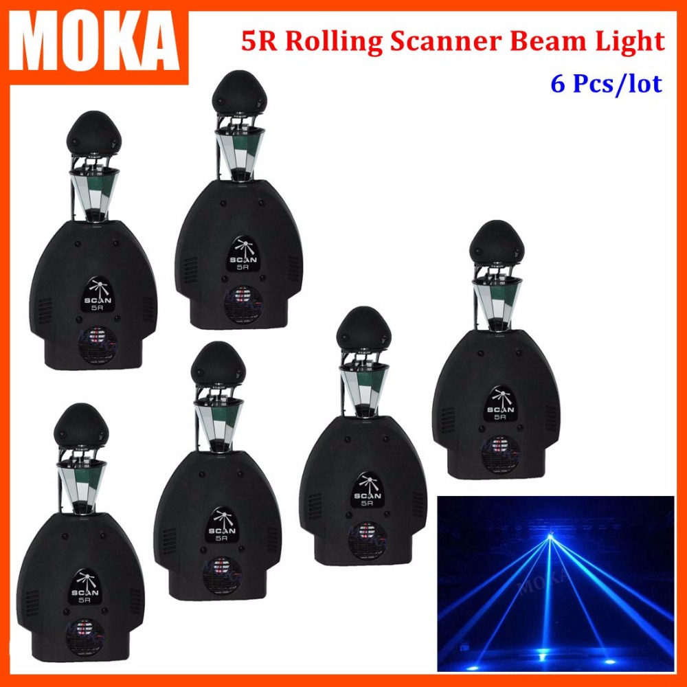 6PCS/LOT Rotate Led DMX Roller Scanner 200W 5R Beam Moving Spot Effect Lights Stage Mixer Disco Equipment Dj Lights factory price hot sales 2pcs lot 5r sniper stage light 5r lamp with zoom function scanner laser beam effect led stage lighting