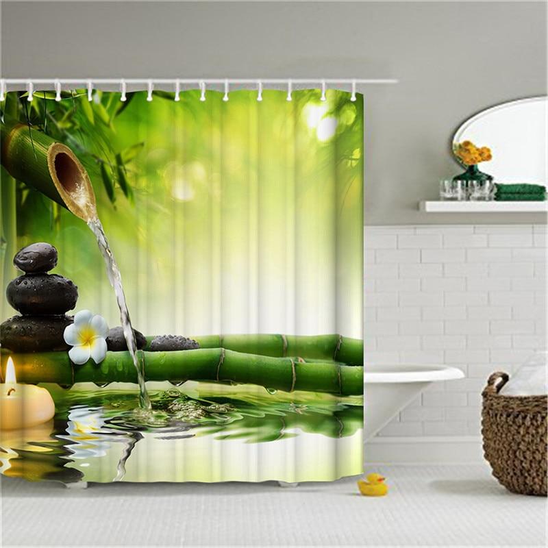 SPA vodootporna zavjesa za tuširanje kupaonica dekor jasmin cvijet - Kućanski robe - Foto 2