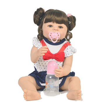 22inch 55cm Full silicone Vinyl Princess Toddler Babies Dolls baby model Girls Birthday Gift Present Child Play House Toy doll
