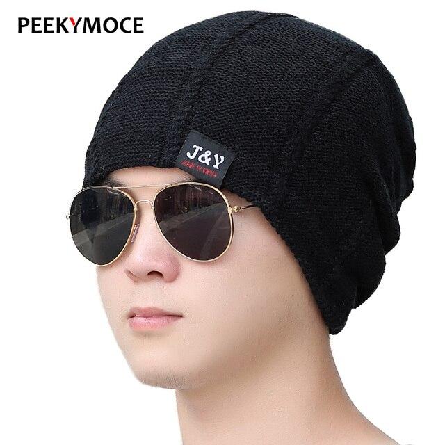 2017 New Fashion Winter Beanies For Men Plus Velvet Warm Hats Fashion Knitting Hat Cap Women bonnet casual Winter Skullies Hats