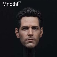 Mnotht 1/6 Ant man Head Carving Model Civil war Edition Paul Rudd Head Sculpt Toys Fit For 12in Male Solider Action Figures Toys