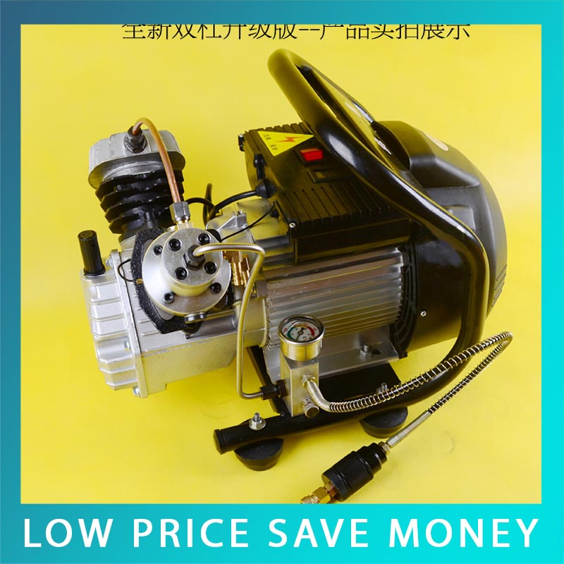 2.2KW Good Quality Double Cylinder PCP Electric Air Pump Paintball Air Compressor