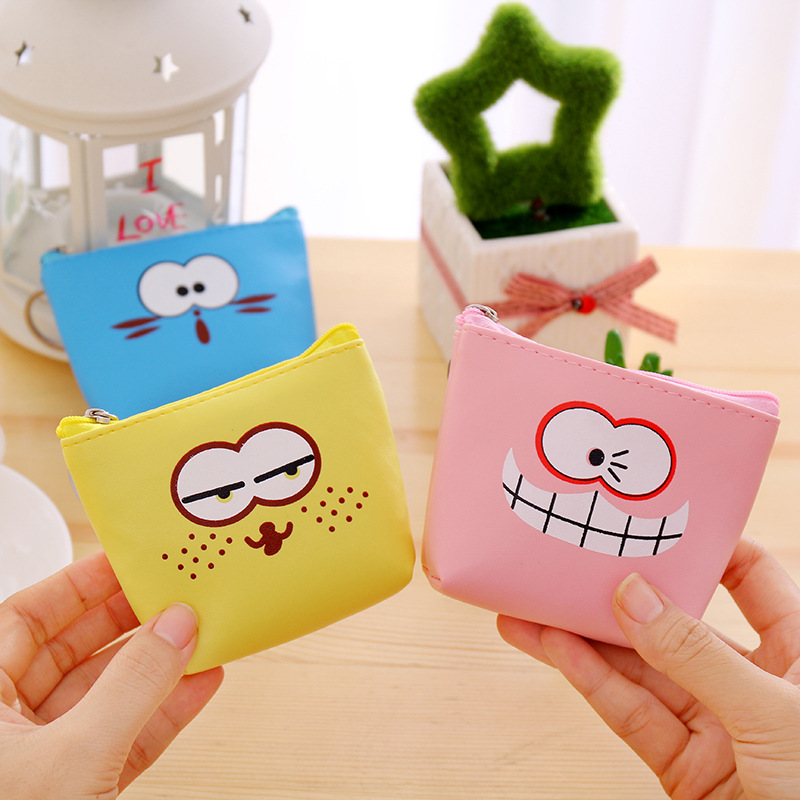 Korean Cute Coin Purse 2018 New Girls Bags Children Small Kawaii Wallet Women Pouch Gift for Kids Blue Pink Yellow Key Holder