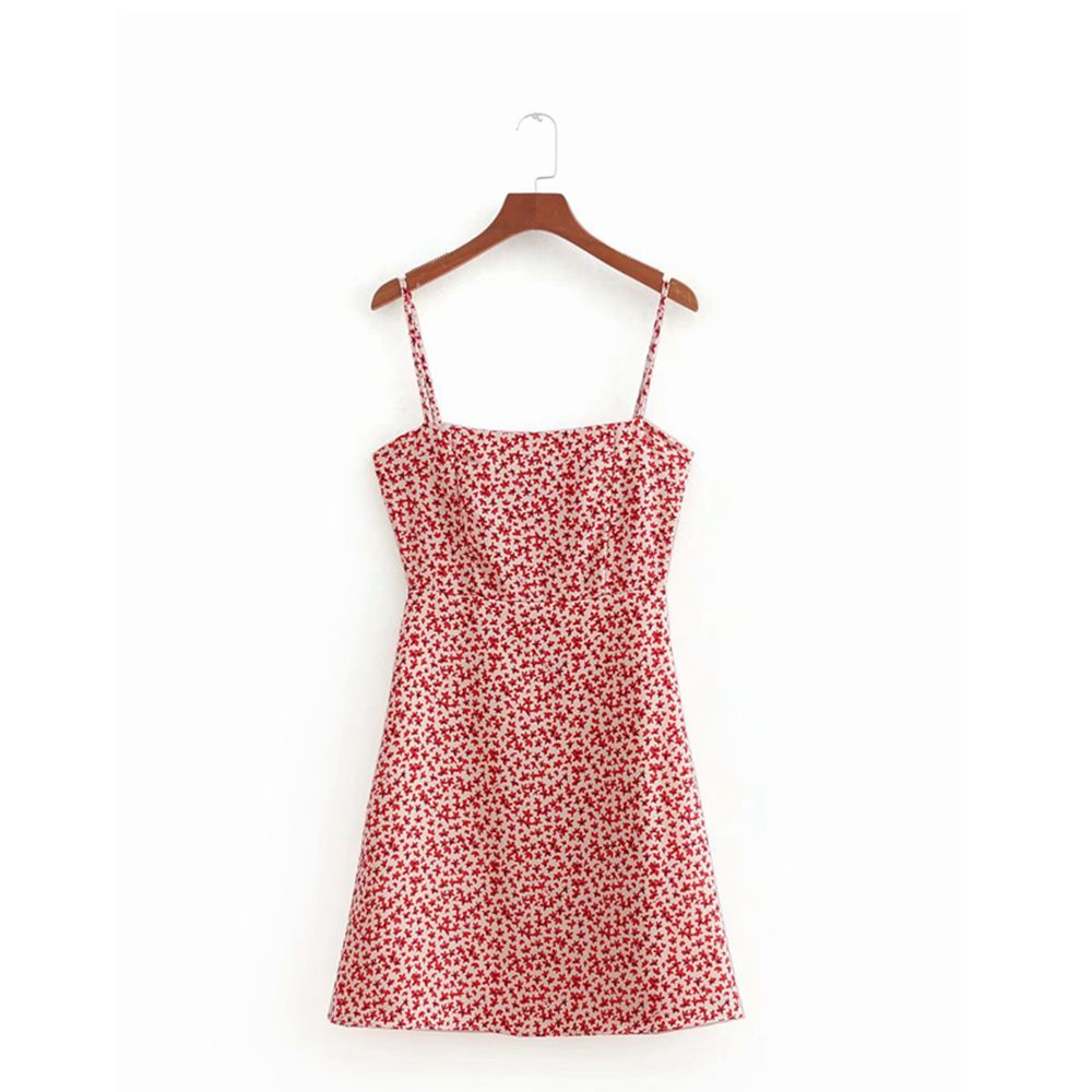 Sexy backless bodycon dress korean floral print beach dress elegant sleeveless midi dress Summer woman dress vestidos 2019 new 8