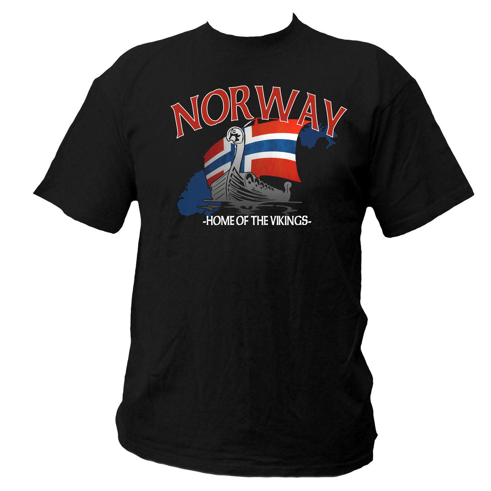 Printed Pure Cotton Men's Shirt Norway Norway Viking Odin Thor Freya Wotan Fun Street Wear Cult O-Neck T Shirt