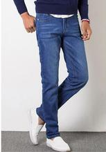 Men Ripped Slim Pencil Jeans Pants Classical Men Fashion Casual High Waist Denim Jeans Men Straight Skinny Blue Jeans