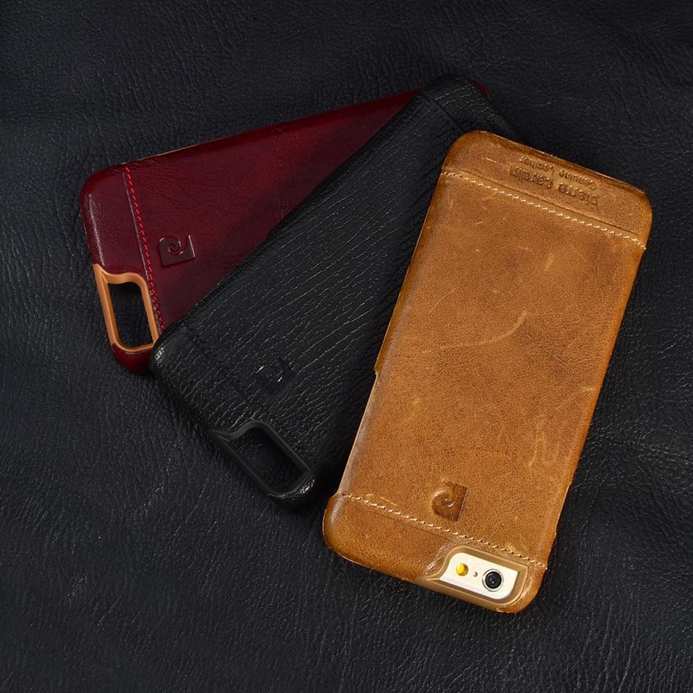 bilder für Pierre Cardin Luxus Echtes Leder-kasten Für iPhone SE 5 5 S 6/6 S 6/6 S Plus iphone 7 7 Plus Ultra Thin Rückseitige Abdeckung Freies Verschiffen