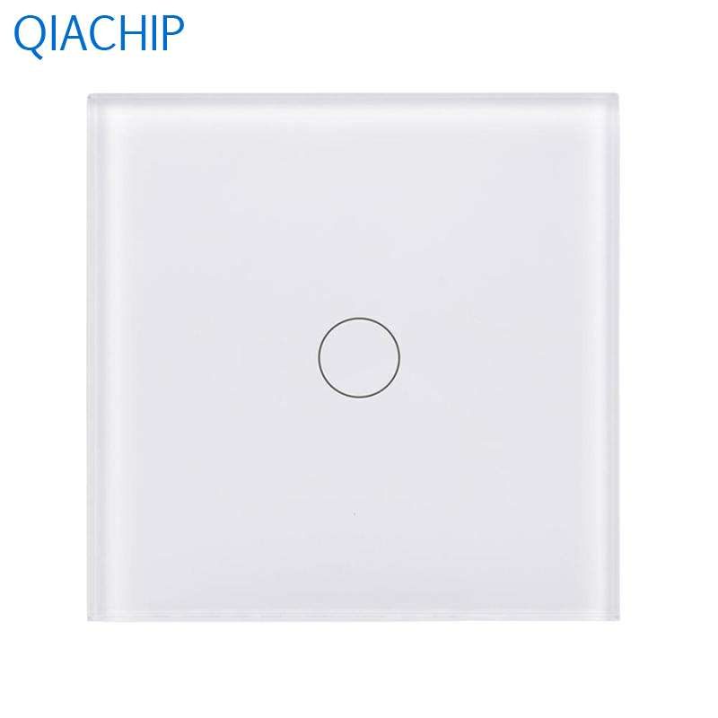 UK Standard WiFi Smart Switch Interruptor 1 Gang Light Wall Switch Timing Touch Button Switch Tempered Glass Panel AC 220v black color 2gang touch light switch with wireless remote control rf 433mhz glass panel smart wall touch switch uk type