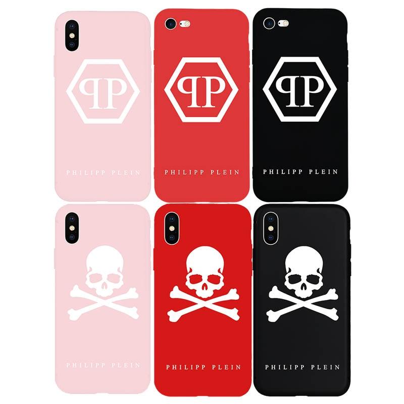Brand PHILIPP PLEIN Skull Soft Silicone Cover Case for iPhone Xs Max X XR 6 6S Plus 7 7Plus 8 8Plus 5 5S SE Luxury Phone Cases