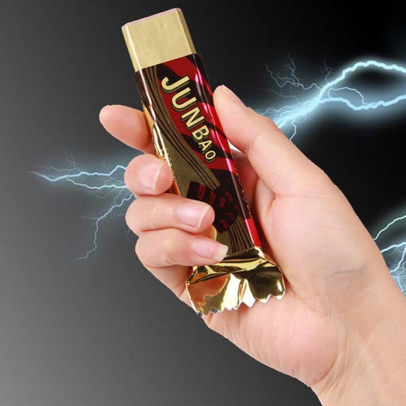 Новые творческие электрическим током шоколад кляп шутливые забавные играть трюк Новинка