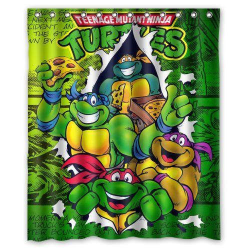 Teenage Mutant Ninja Turtles TMNT Custom Waterproof Shower Curtain 60 X 72 Free Shipping