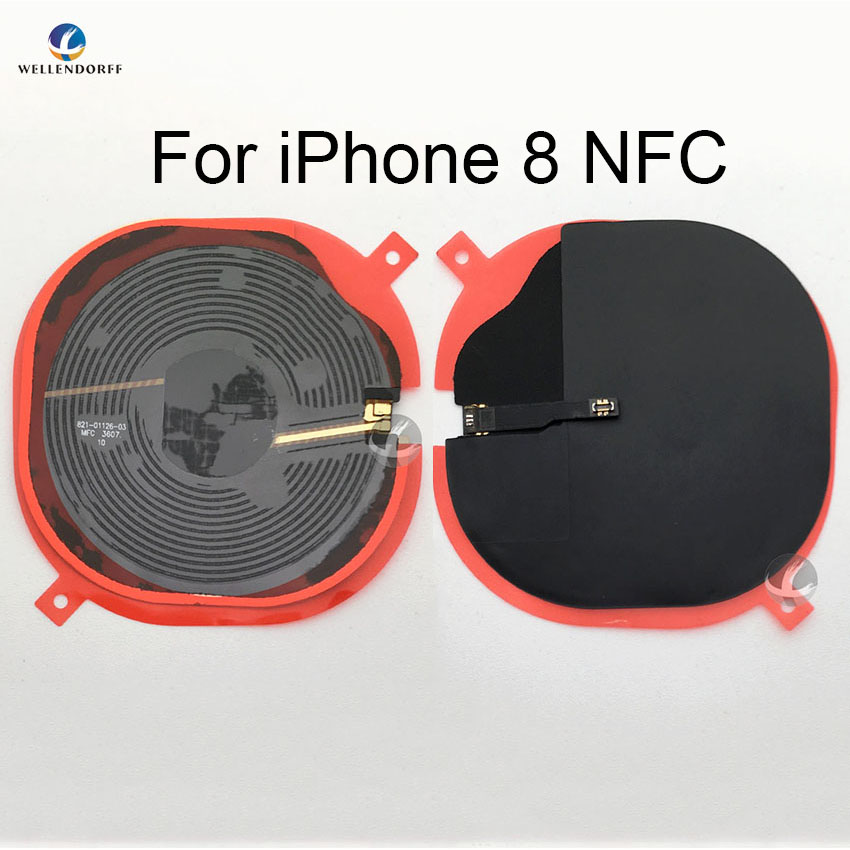 NFC Wireless Charging For IPhone 8 Plus 8P X XS XR XSM Max Charge Panel Coil Sticker Receiver IC Chip Module Flex Cable Test OK