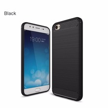 TPU Soft Case for vivo X9 Plus Carbon Fiber Silicone Brushed Anti-knock cell phone Back Cover X9s cases