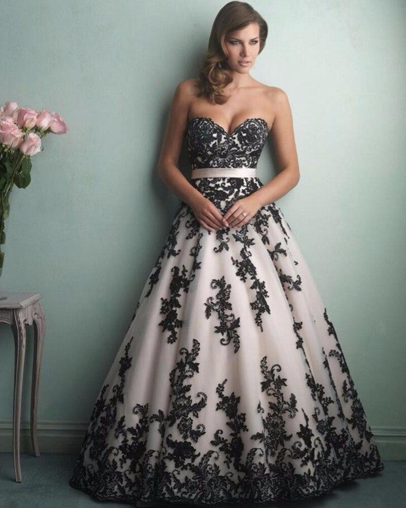 black lace wedding dress Off The Shoulder Long Sleeve Lace Long Train A Line Wedding Dress Black