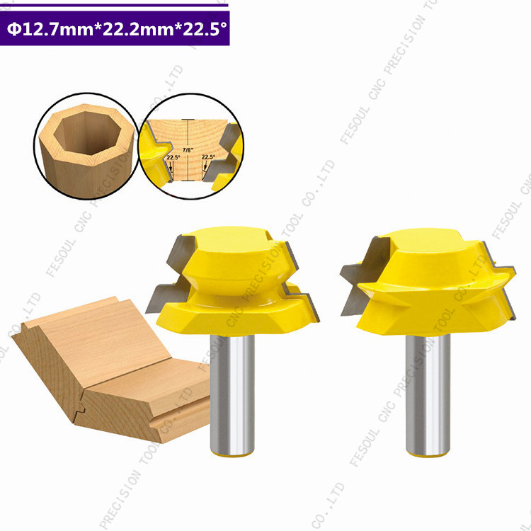12 7mm shank 2PCS CNC Solid Carbide Milling Cutter woodworking router bit Floor knife A variety