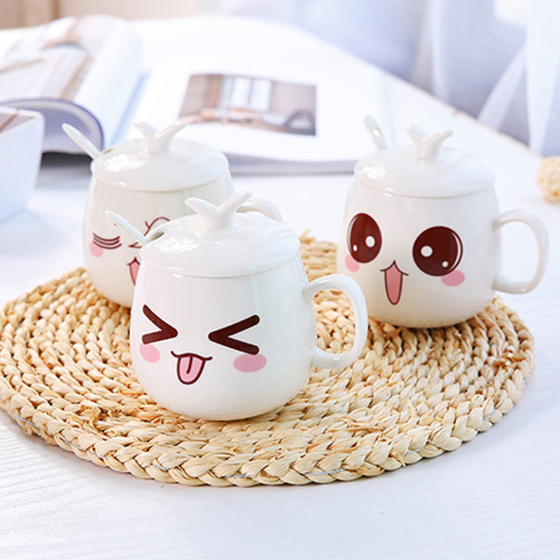 XING KILO Creative ceramic expression cup cartoon cute mug coffee cup porcelain teacup