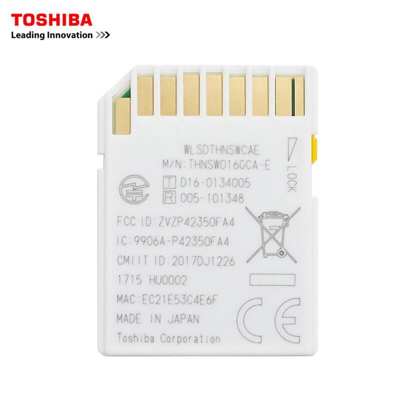 TOSHIBA FlashAir W 04 carte mémoire sans fil LAN 64GB WI FI carte SD U3 UHS vitesse classe 3 sans fil SD carte mémoire Wifi carte SD - 2