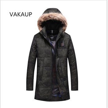 2018 NEW Winter Jacket Men New Winter Fans Cotton Clothes Hooded Hair Collar Leisure Coat Cotton Thickening And Winter Clothes
