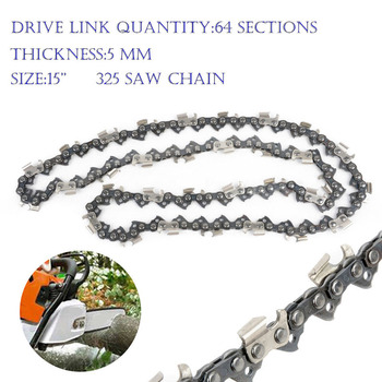 15 Inch 64 Link Chainsaw Saw Chain Drive Link 325 Pitch Gauge Chainsaw Blade For Husqvarna Chainsaw Garden Tools 2pcs 18 inch chainsaw saw chain blade pitch 325 0 058 gauge 72dl replacement chains hardware tools