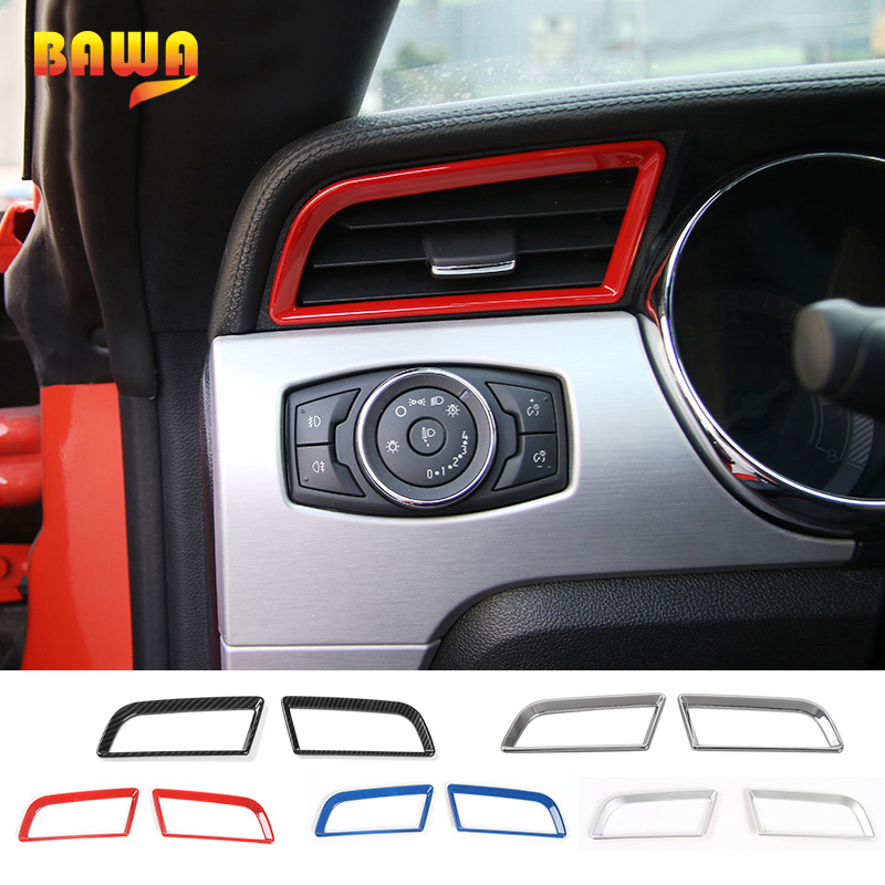 Dashboard Interior Air Vent Outlet Ring Cover Trim for Ford Mustang 2015-2018