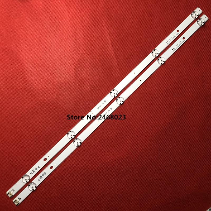 New Kit 2pcs 5LEDs 590mm LED strip for LG TV 32LH510B 32LH51_HD S SSC_32INCH_HD LGE_WICOP_SVL320AL5 Innotek direct 32inch CSP