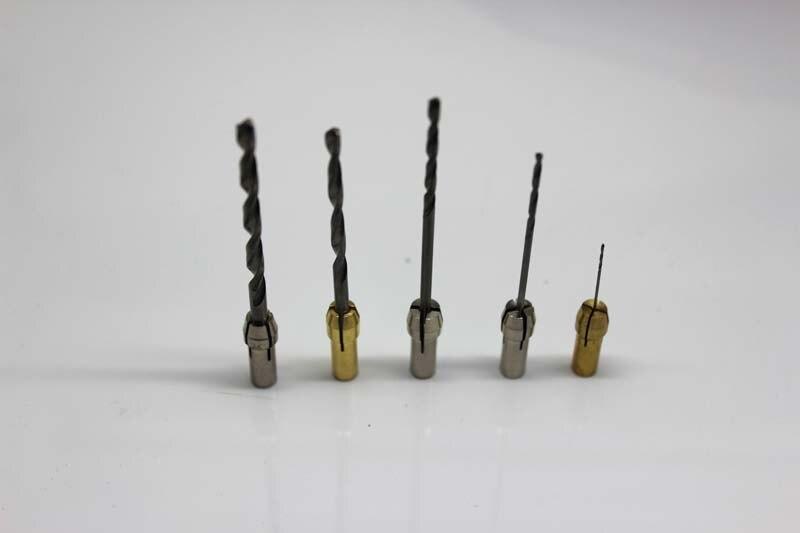 A Set 5 pcs Drill Head 3.0 / 2.5 / 1.5 / 1.0 / 0.5 mm with Chucks For Dremel or Polisher Burnish Machine Tool Accessory head струна head lynx set