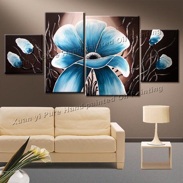100% dipinto a mano di alta qualità grandi dipinti su tela modern ...