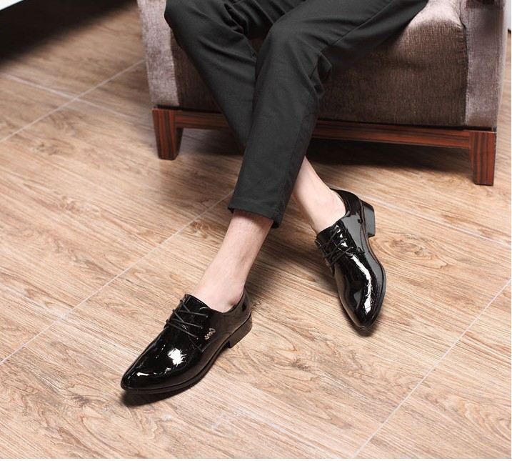 Delocrd 2018 New design Formal Man Footwear lace up Pointed toe Mens Shoes Business Office Loafers