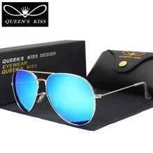 QUEENS KISS Fashion Classic Polarized Sunglasses Men/Women Colorful Reflective Coating Lens Eyewear Accessories Sun Glasses 3026