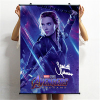 Avengers: Endgame Captain America Iron Man Black Widow Signature Ver Poster Scroll Painting Action Figure Wall Hangings X1874