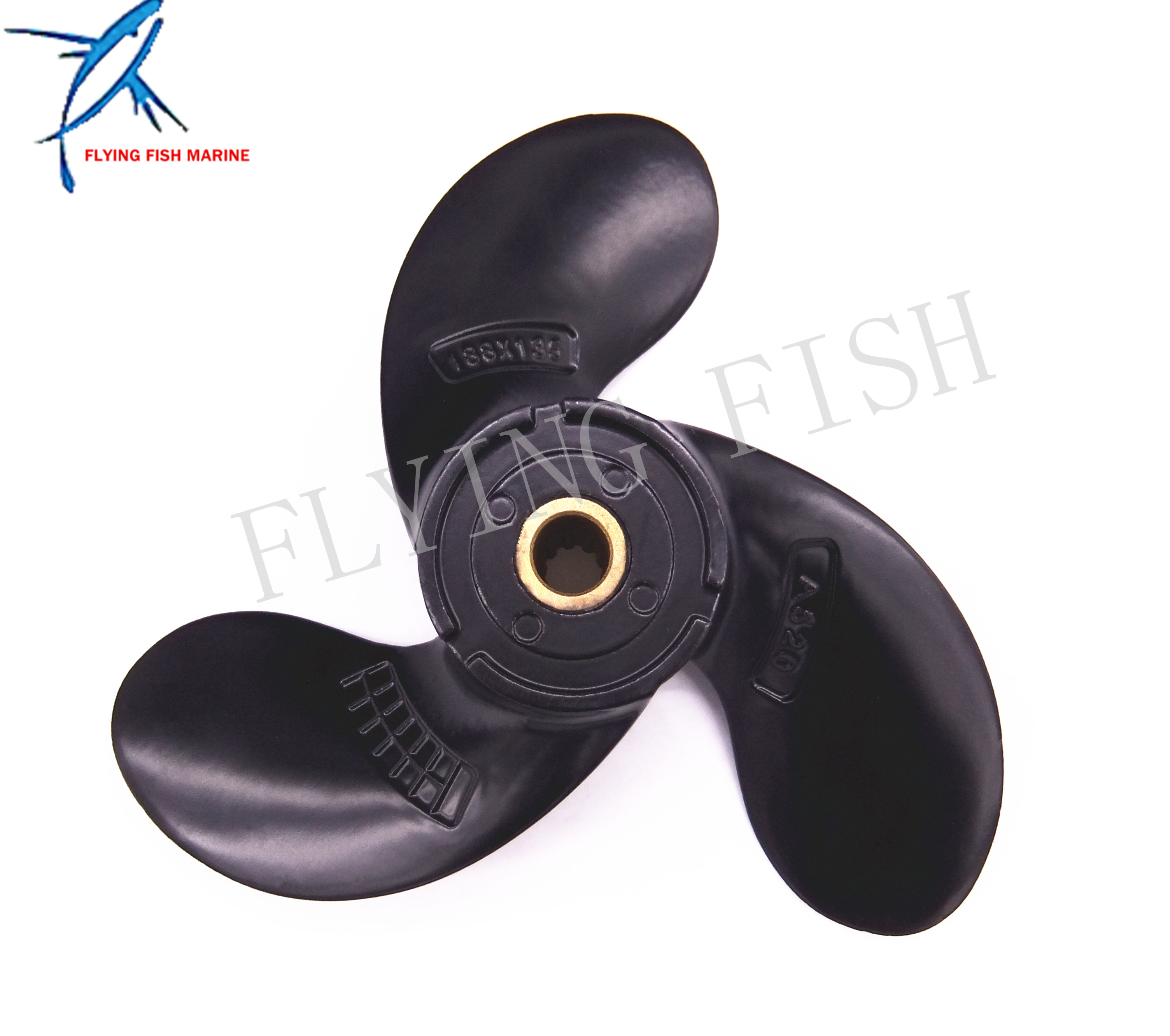 Boat Motor Aluminum Alloy Propeller 58110-97JA0-019 for Suzuki 2.5hp DF2.5 Outboard Engine A520 7 1/2x6