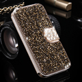FLOVEME S7 Edge Fashion Rhinestone Flip Cases For Samsung Galaxy S7 edge Women Girls Leather Glitter Phone Shell Wallet Cover