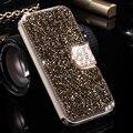 Floveme s7 borda moda rhinestone mulheres meninas couro flip cases para samsung galaxy s7 edge glitter telefone shell capa carteira
