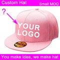 10 pcs/lot  3d embroidery logo baseball snapback cap low moq unisex Apparel Accessories headwear customize cap