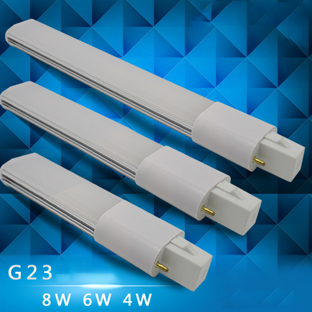 G23 SMD2835 2pin Base Energy Saving Ultra Thin LED Bulb Super Birght Decoration Home 4W 6W 8W Replacement AC85-265V Tube Lamp