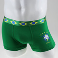 2016 New High Quality and Comfortablity Brazil Flag World Cup Sexy Men's Underwear Men's Boxer Shorts  2 colors