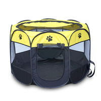Portable Folding Pet Tent Dog Cat House Cage House Dog Cat Tent Fence Puppy Kenneles Outdoor Bed