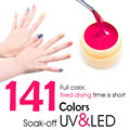 #50618 141pcs/set CANNI Soak Off UV/LED Color Gel  5ml Nail Art Hot sale Color Gel Paint