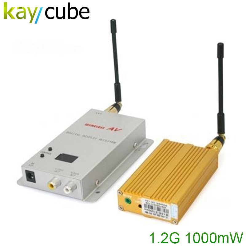 цена на 1.2G Wireless Video/Audio AV Transmitter & Receiver 1000mW 15CH 1W Long distance Free Shipping