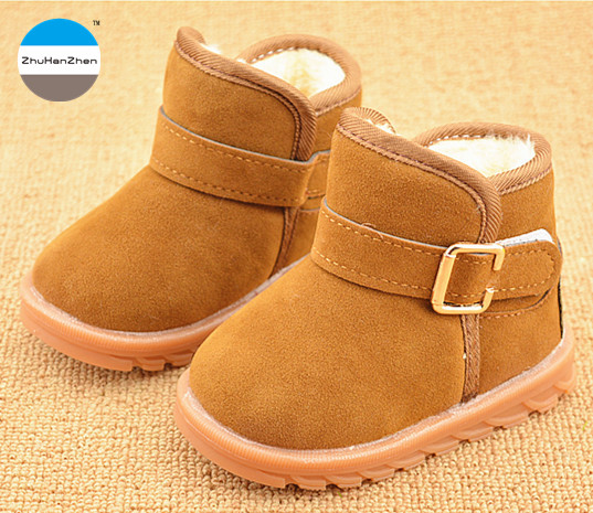 best service 02fd7 37e39 US $8.49 15% OFF|2018 Winter baby boots 1 to 5 years old boy and girl snow  boot keep warm cotton shoes short boots children casual sport shoes-in ...